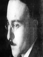 Imagem em preto e branco do rosto do poeta português Fernando Pessoa
