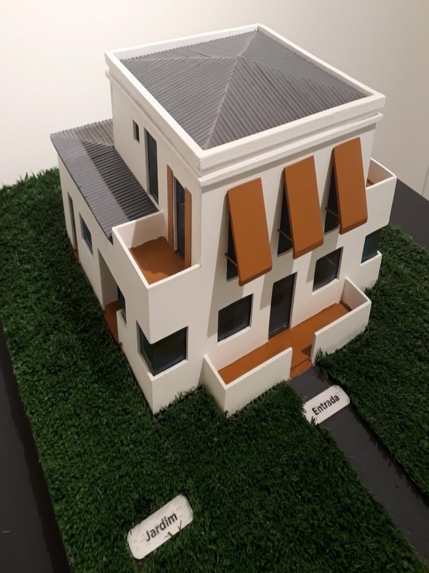 Maquete tátil da Casa Modernista