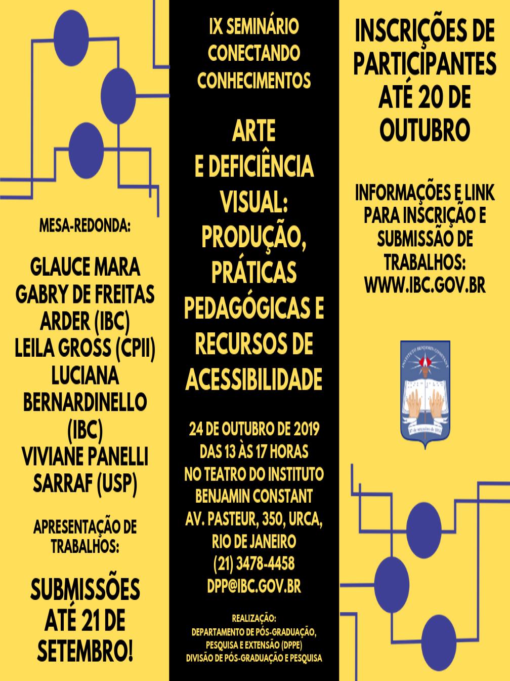 Convite do Seminário.